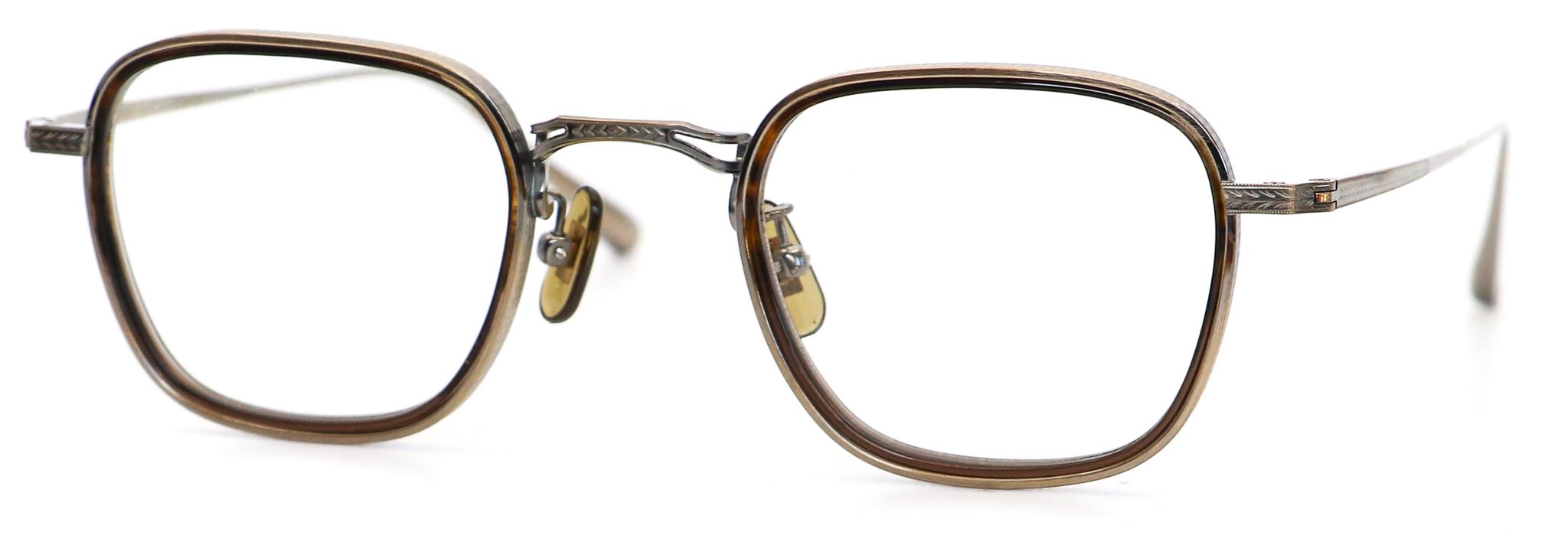 眼鏡のカラータイプC-3 Brown-Half/At-Gold