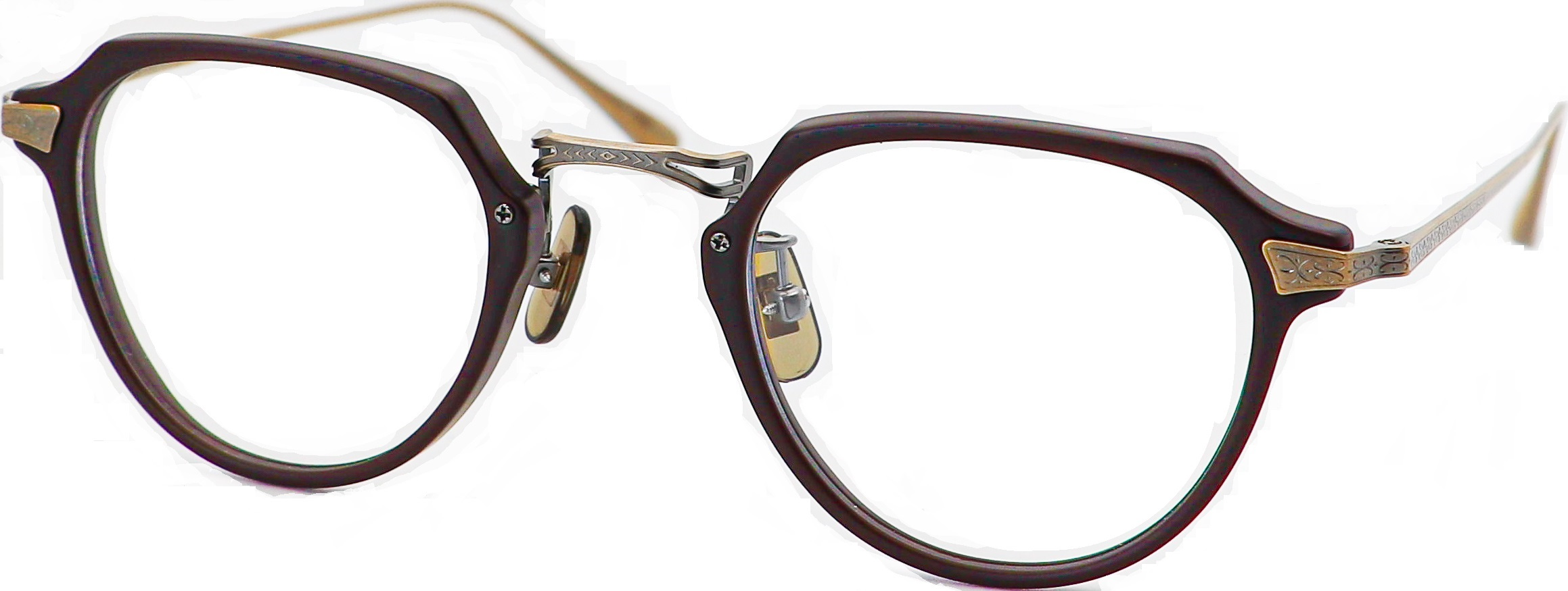 眼鏡のカラータイプC-6 Brown-Matt/At-Gold