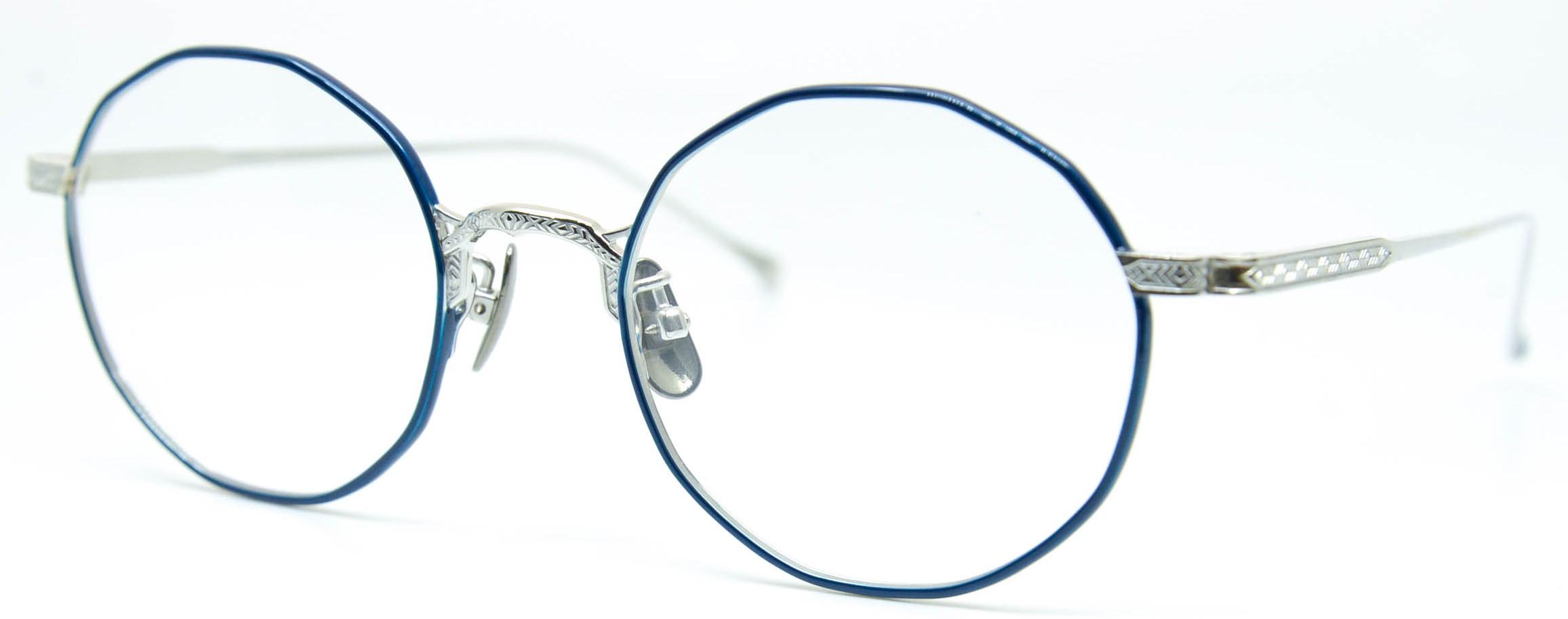 眼鏡のカラータイプC-2 Blue/Silver