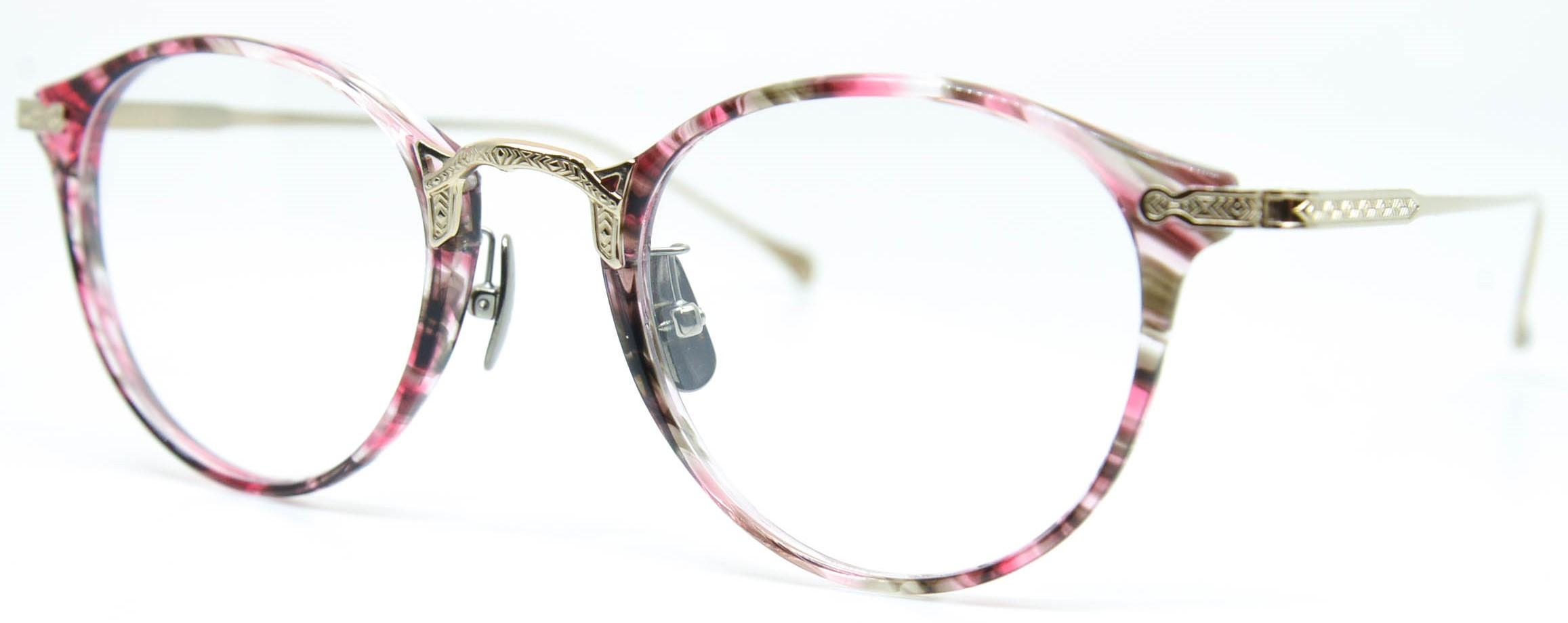 眼鏡のカラータイプC-3 Wine-Sasa/Gold