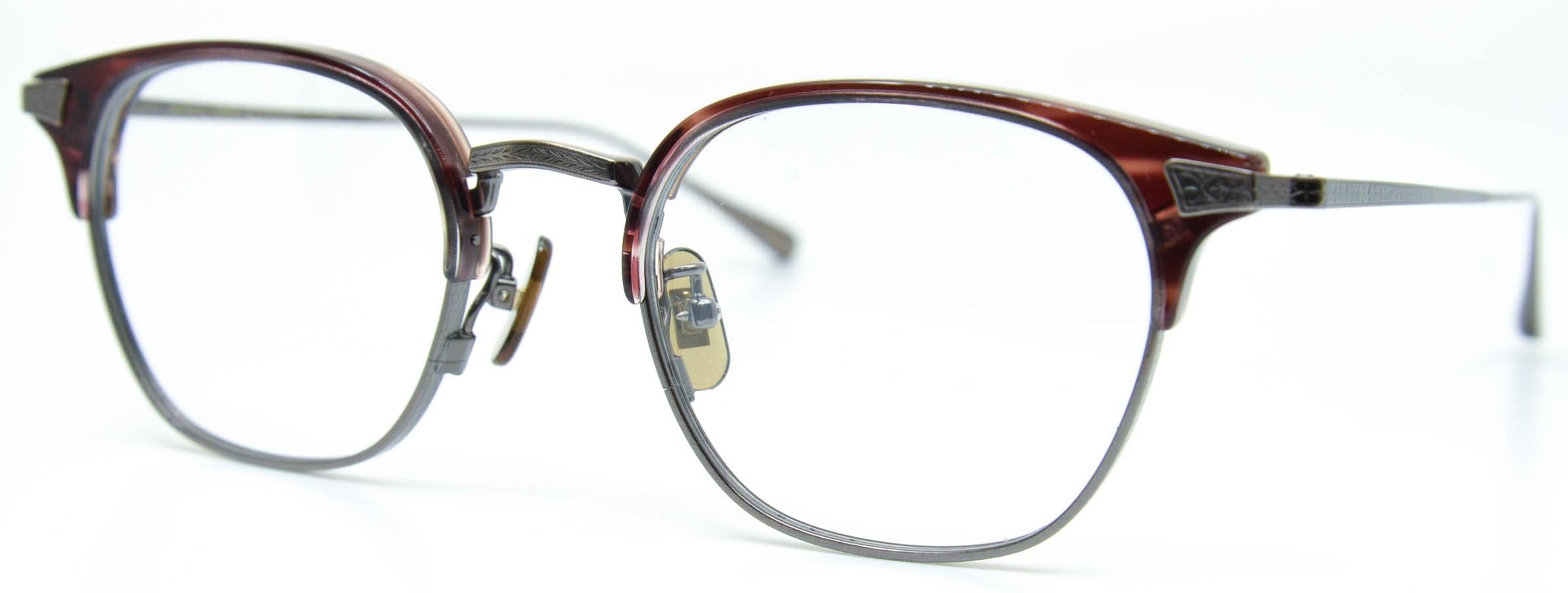 眼鏡のカラータイプC-3 Wine-Sasa/At-Brown