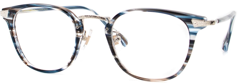 眼鏡のカラータイプC-3 Blue-Sasa/Silver