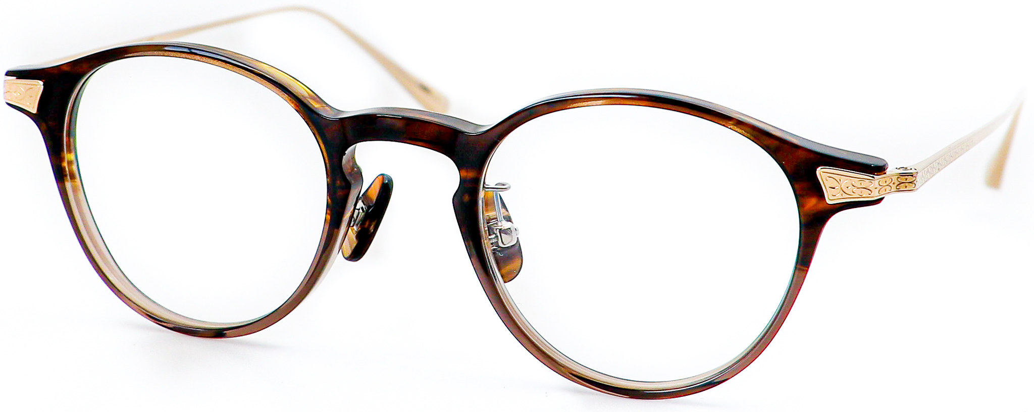 眼鏡のカラータイプC-4 Dark.Brown-Gray/Gold