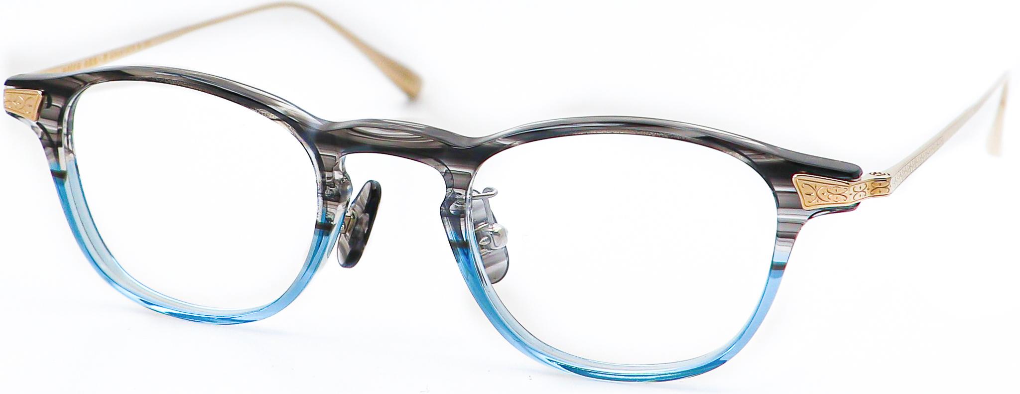 眼鏡のカラータイプC-4 Gray-Blue/Gold