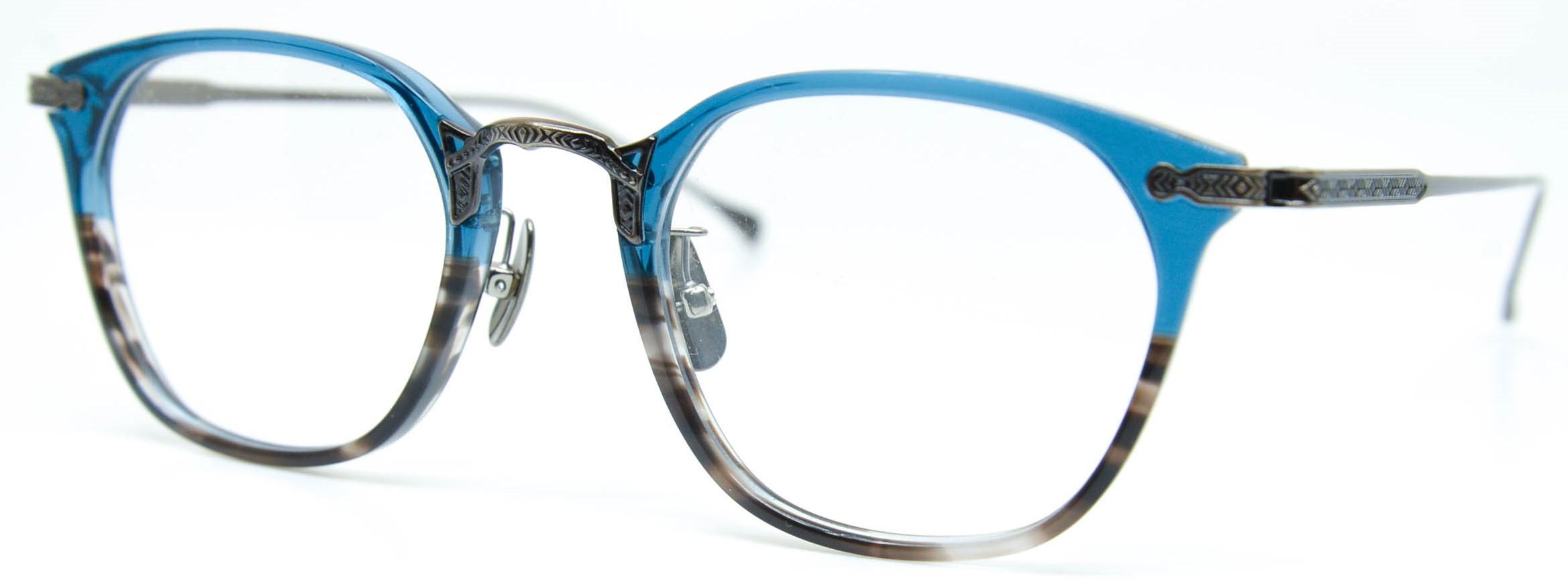 眼鏡のカラータイプC-6 Blue-BrownSasa/At-Brown