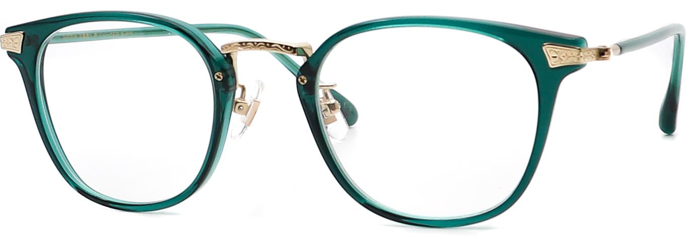眼鏡のカラータイプC-5 Green/Gold
