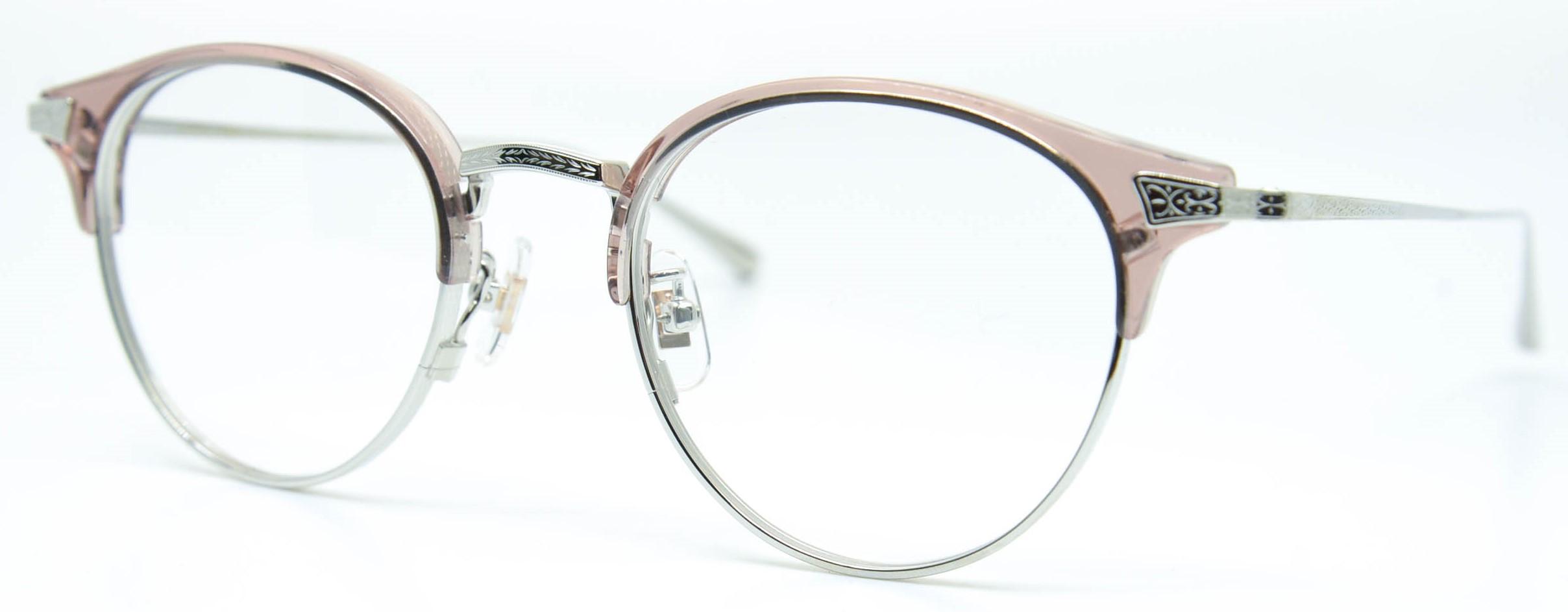 眼鏡のカラータイプC-6 Pink-Brown/Silver