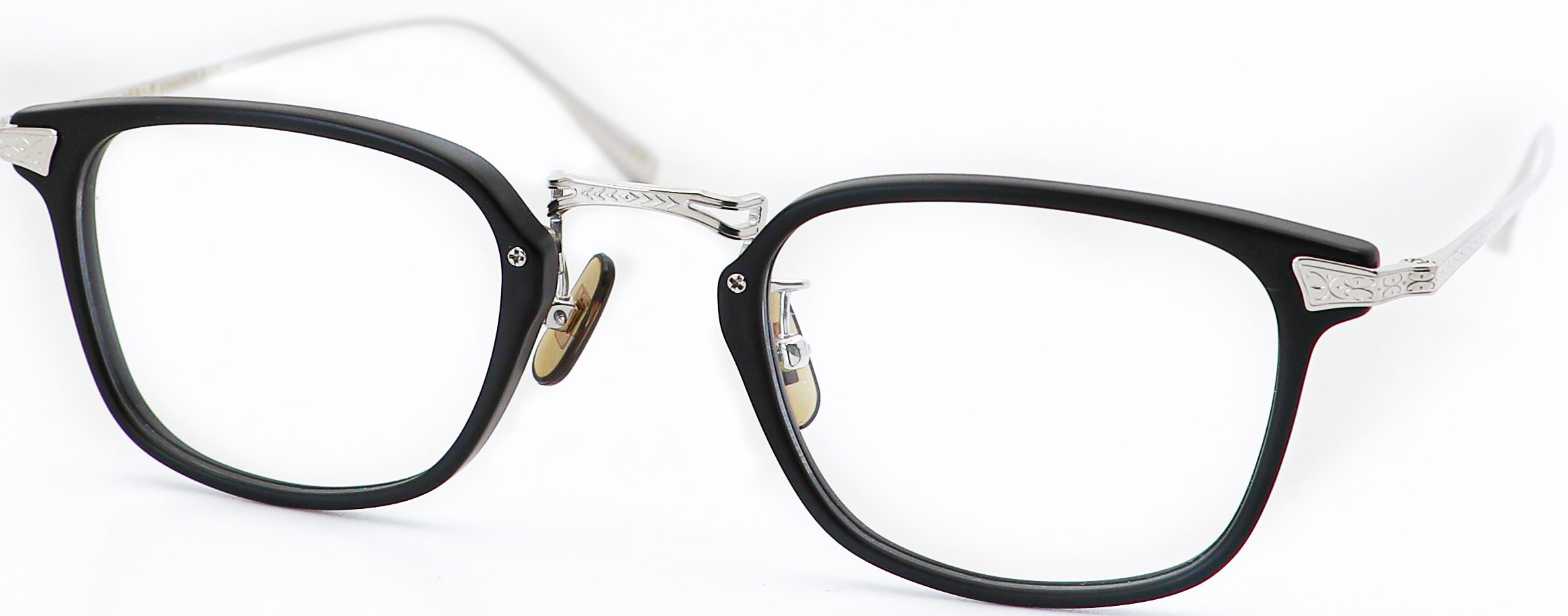 眼鏡のカラータイプC-6 Black-Matt/Silver