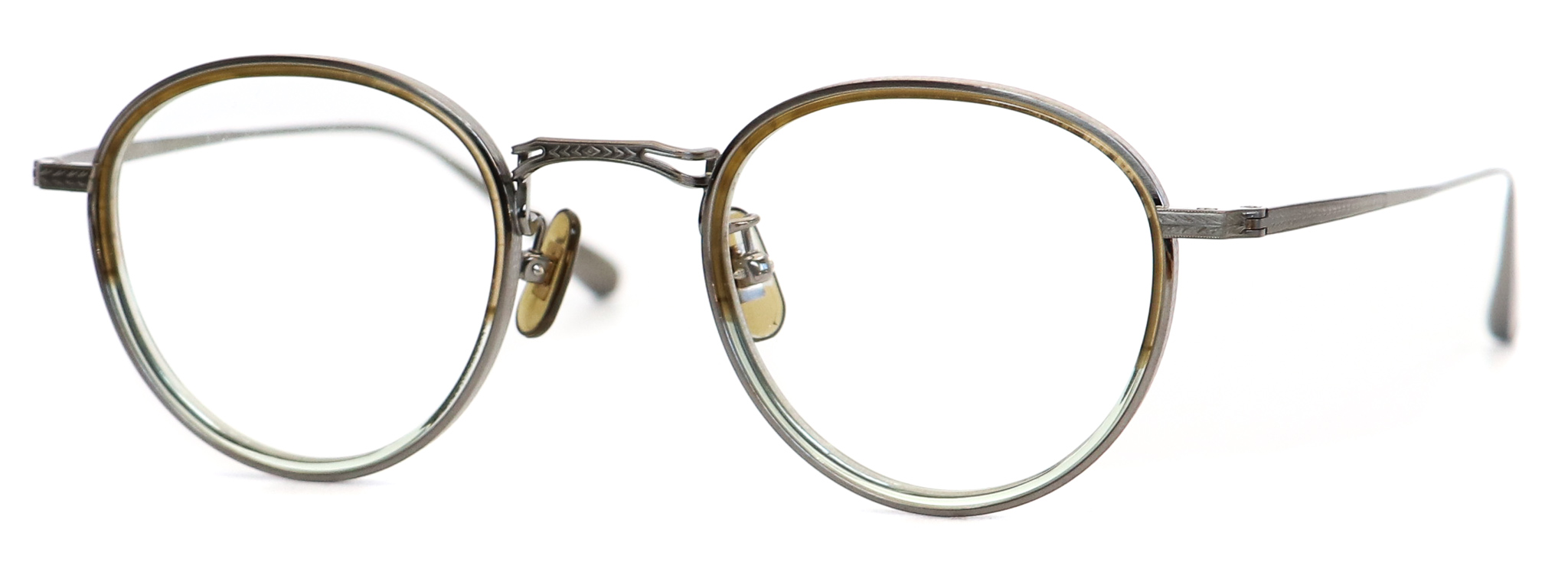 眼鏡のカラータイプC-4 Green-Half/Gray