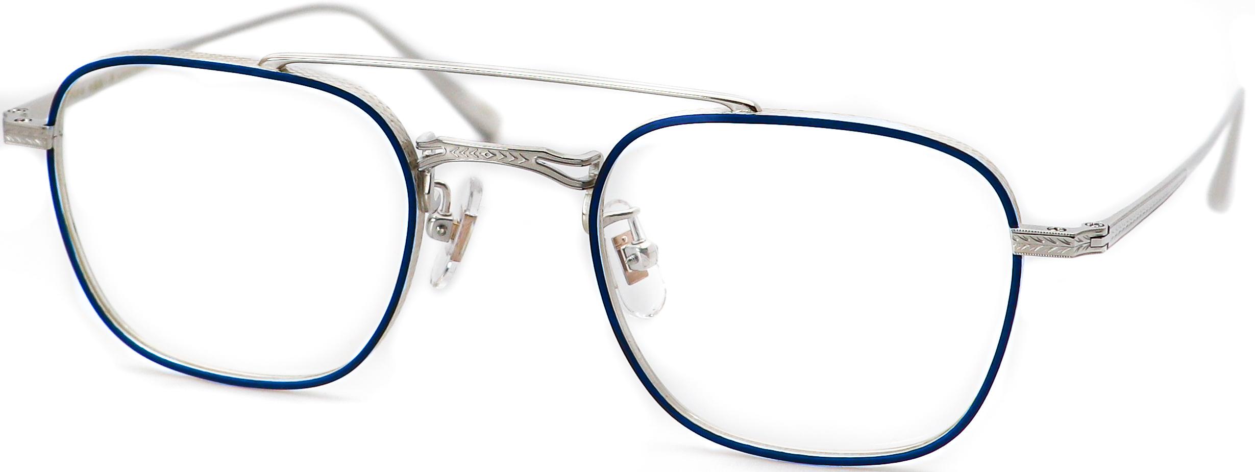 眼鏡のカラータイプC-2 Blue-Matt/Silver