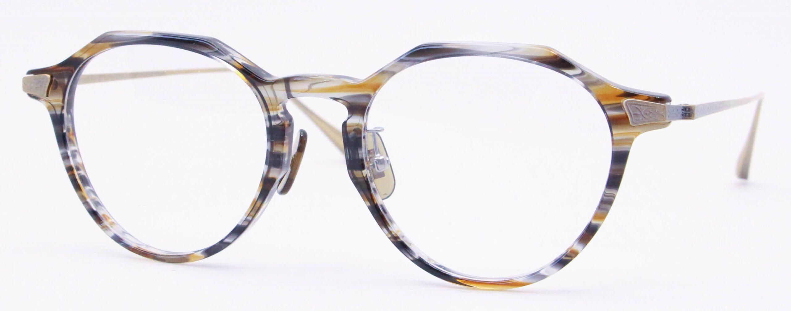 眼鏡のカラータイプC-2 Brown-Sasa/At-Gold