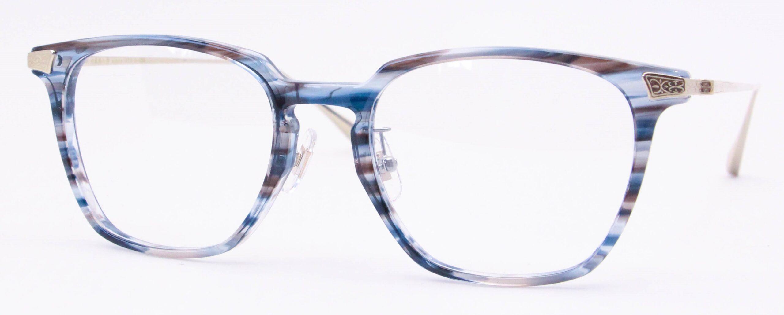 眼鏡のカラータイプC-3 Blue-Sasa/Gold