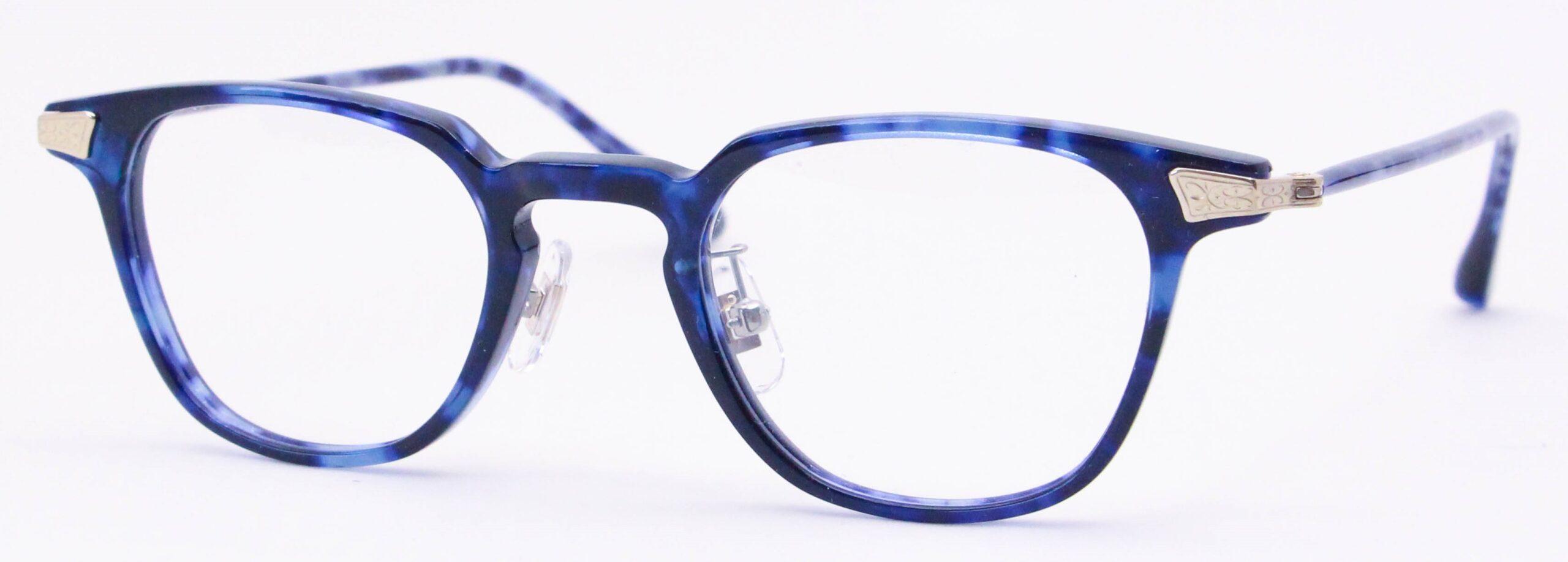 眼鏡のカラータイプC-3 Blue-Tortoise/Gold
