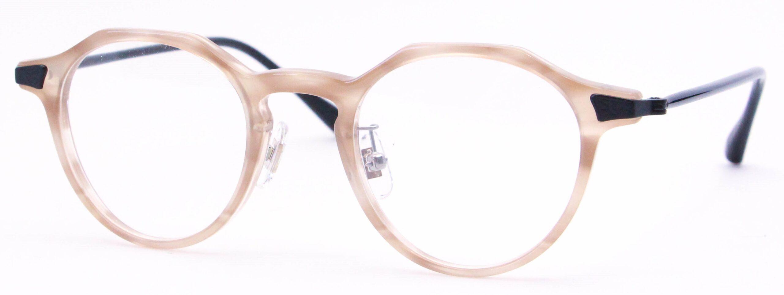 眼鏡のカラータイプC-4 Pink-Sasa/Black