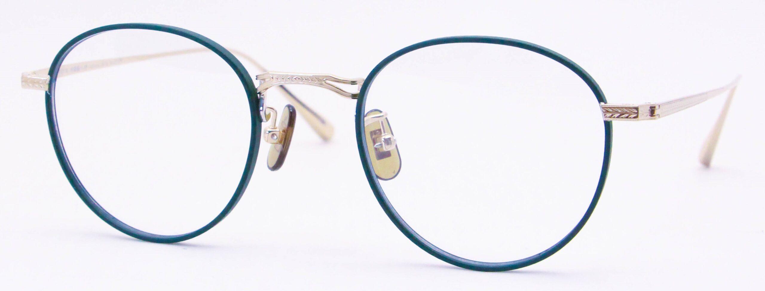 眼鏡のカラータイプC-5 Green-Matt/Gold