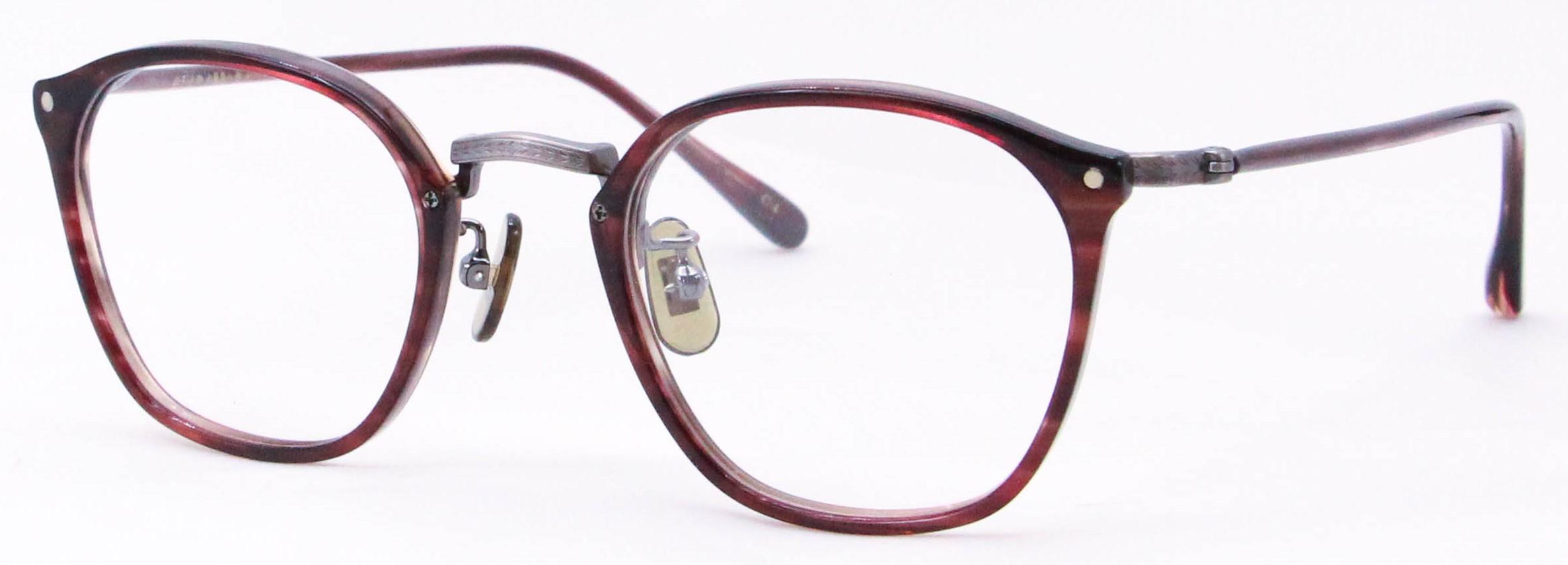 眼鏡のカラータイプC-4 Wine/At-Brown サンプラチナ飾り