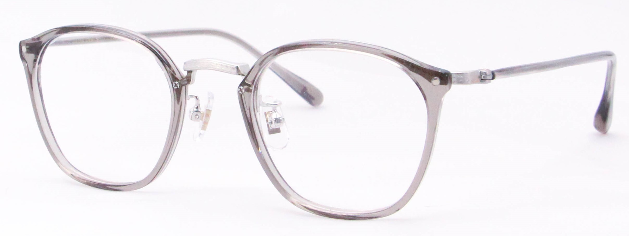 眼鏡のカラータイプC-6 Gray/Silver サンプラチナ飾り