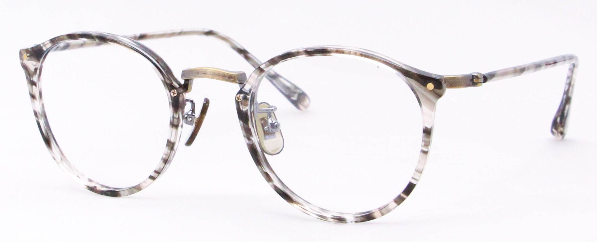 眼鏡のカラータイプC-2 Brown-Sasa/At-Gold K10飾り