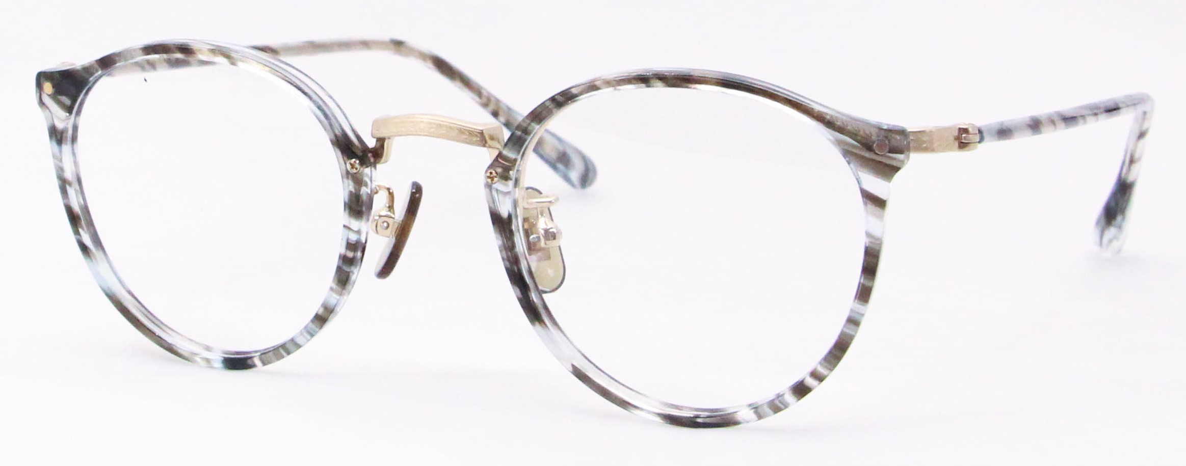 眼鏡のカラータイプC-3 Blue-Sasa/Gold K10飾り