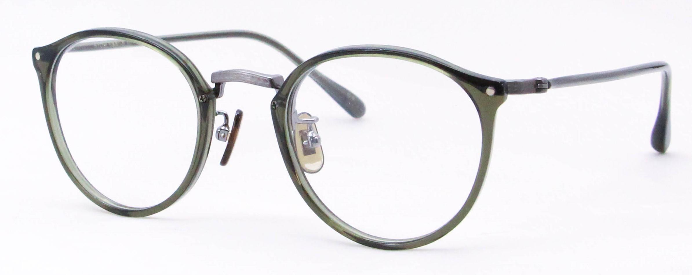 眼鏡のカラータイプC-5 Green/Gray サンプラチナ飾り